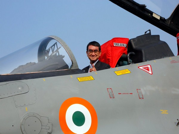 Japanese Defence Minister Taro Kono was seen onboard a Su-30 MKI aircraft on Saturday