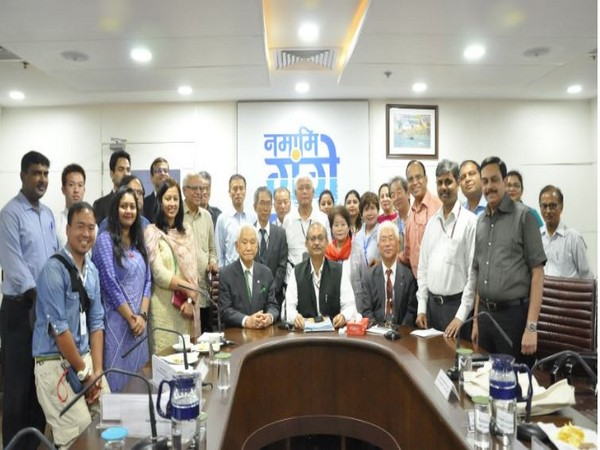 A 16-member Japanese delegation holds meeting with Rajiv Ranjan Mishra, the Director-General of NMCG on Friday.