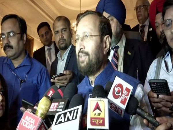 Union Minister Prakash Javadekar speaking to media persons in Delhi on Monday. Photo/ANI