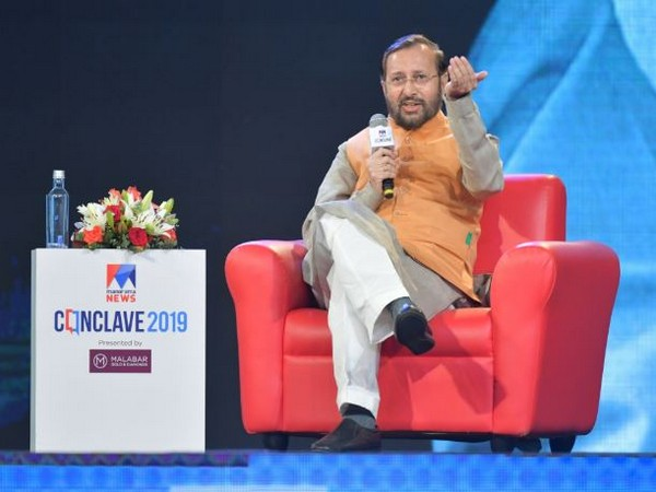 Union Minister Prakash Javadekar speaking at the news conclave organised by Malayala Manorama Company limited at Kochi in Kerala on Friday.