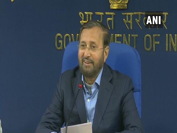 Prakash Javadekar addressing a press conference in New Delhi on Wednesday.