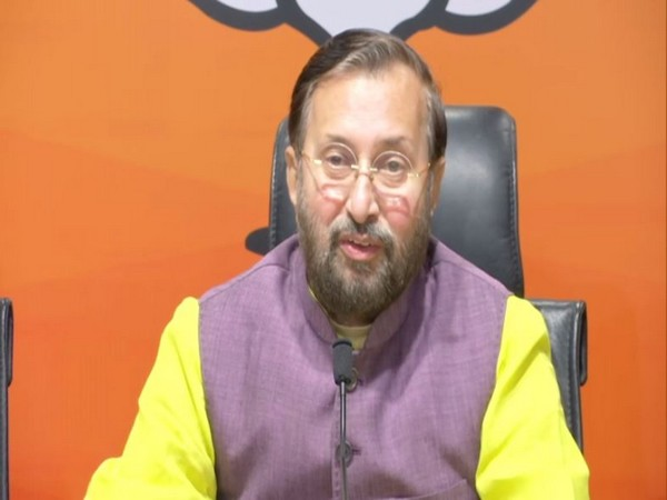 Prakash Javadekar addressing a press conference on Thursday in New Delhi.