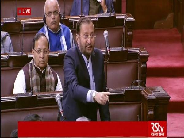 Union Minister Prakash Javadekar speaking in Rajya Sabha on Tuesday.