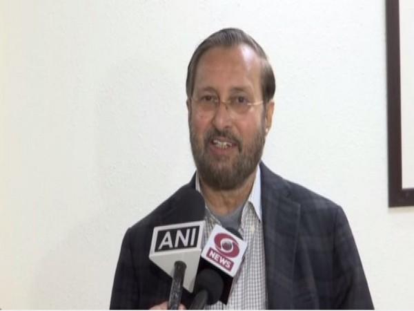 Prakash Javadekar speaking to reporters in New Delhi. Photo/ANi