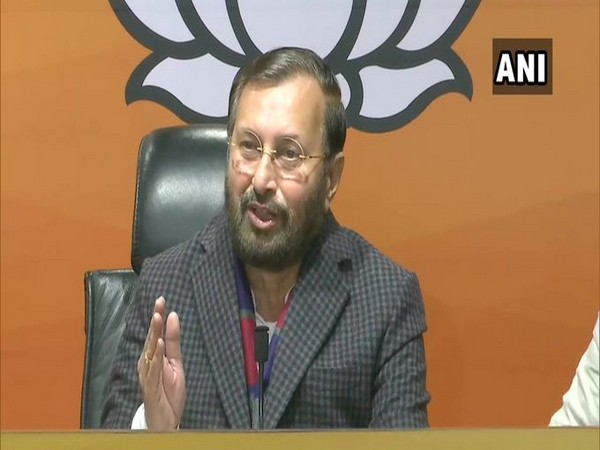 Union Information and Broadcasting Minister Prakash Javadekar. (Photo/ANI)
