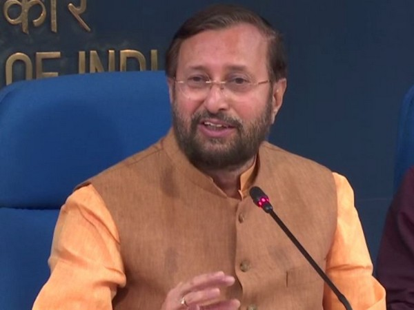 Union Minister Prakash Javadekar briefing the media after the Cabinet meeting in New Delhi on Friday. Photo/ANI