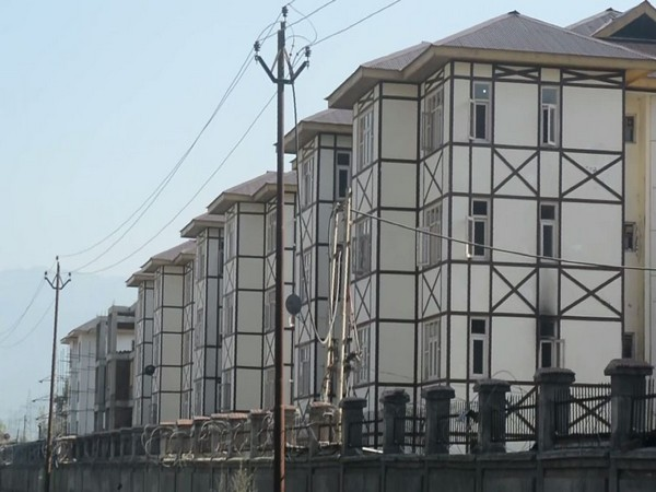 Residential buildings for migrant pandits in Anantnag.