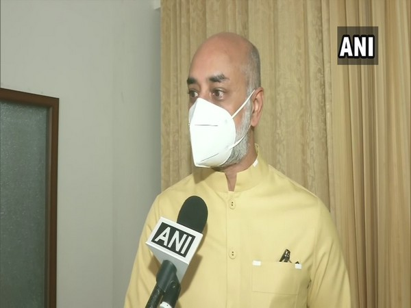 TDP MP Jayadev Galla speaking to ANI in New Delhi on Thursday. (Photo/ANI)