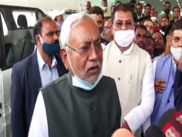 Bihar Chief Minister Nitish Kumar interacting with media on Wednesday.