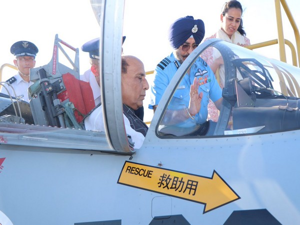 Defence Minister Rajnath Singh visited the Hamamatsu Air Base in Japan on Tuesday