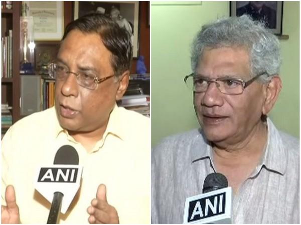 JDU spokesperson Pawan Verma and CPI (M) General Secretary Sitaram Yechury speaking to ANI on Monday. Photo/ANI