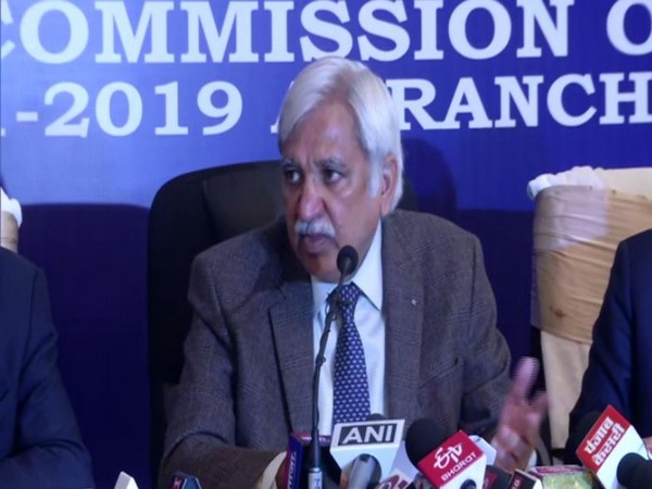 Election Commission chief Sunil Arora speaks to media in Ranchi on Thursday [Photo/ANI]
