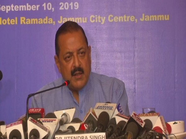 Minister of State for PMO, Jitendra Singh, while addressing the reporters on Tuesday. (Photo/ANI)