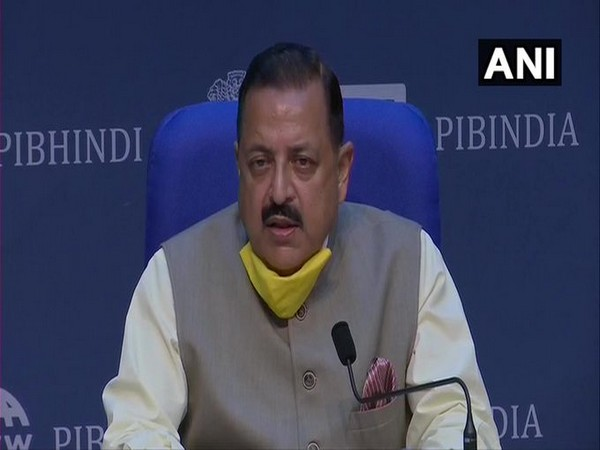 Union Minister Jitendra Singh addressing a press conference in New Delhi on Wednesday.