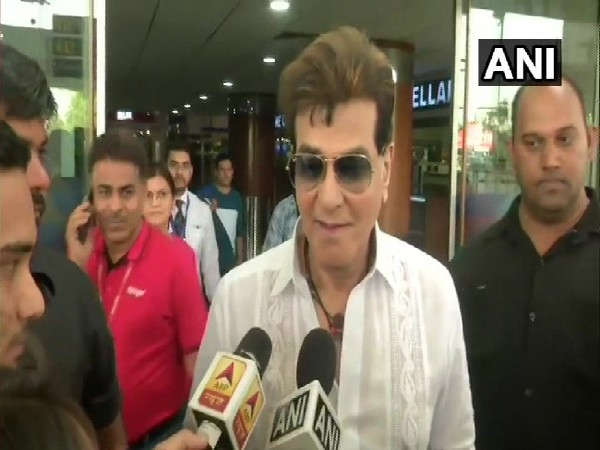 Actor Jeetendra speaking to media in New Delhi on Thursday Photo/ANI.
