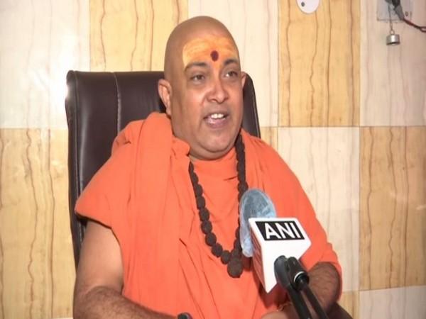 Jitendranand Saraswati General Secretary Akhil Bharatiya Sant Samiti. [Photo/ANI]
