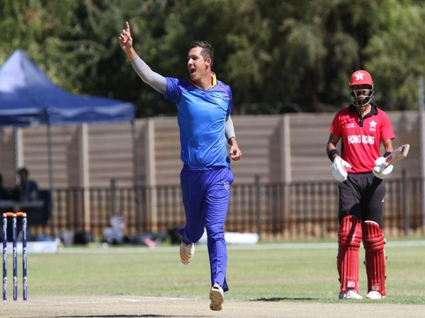Namibia's JJ Smit (Photo/ICC twitter)