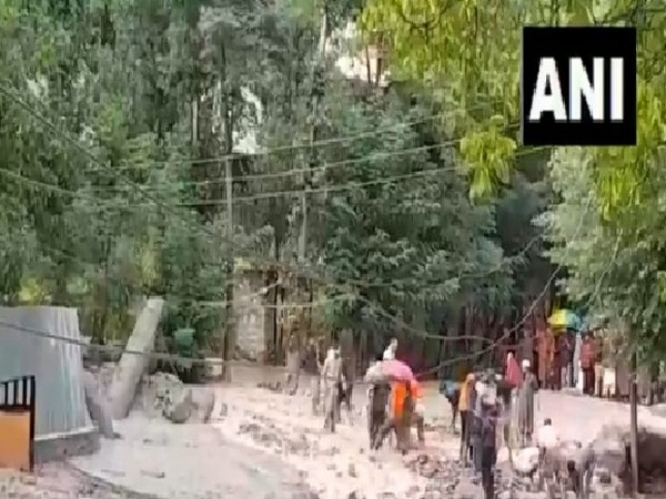 A visual from Ganderbal in Jammu and Kashmir during the flash flood.