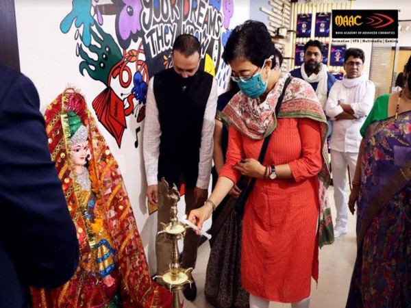 Atishi Marlena, member of Delhi Legislative Assembly inaugurating MAAC Centre in Kalkaji