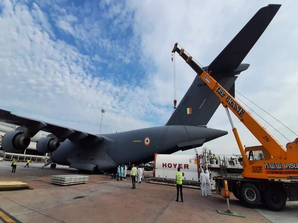 IAF aircraft airlifting medical supplies (ANI).