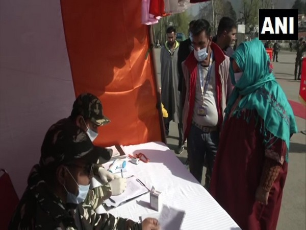 People at CRPF's medical camp in Srinagar's Nishat on Thursday.