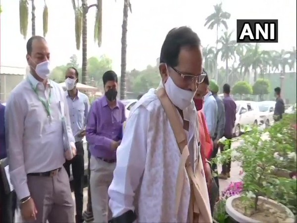 Union AYUSH Minister Shripad Naik on Wednesday arrived at Parliament.