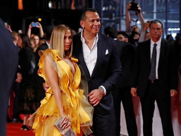Jennifer Lopez and Alex Rodriguez at the 'Hustlers' TIFF premiere