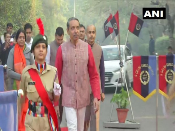 JNU introduces its first NCC's 3 Delhi Girls Battalion cadets. Photo/ANI