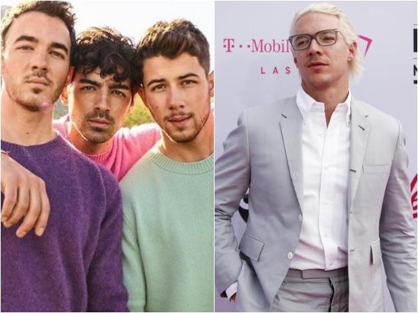 Jonas Brothers -- Kevin, Joe, Nick and DJ Diplo, Image courtesy: Instagram
