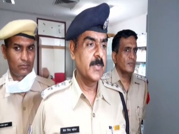 ADC Chain Singh Mahecha speaking to reporters at AIIMS, Jodhpur on Saturday. Photo/ANI