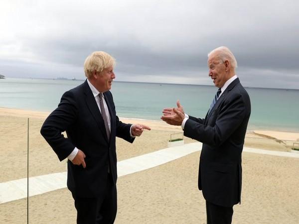 US President Joe Biden and UK Prime Minister Boris Johnson on Thursday.