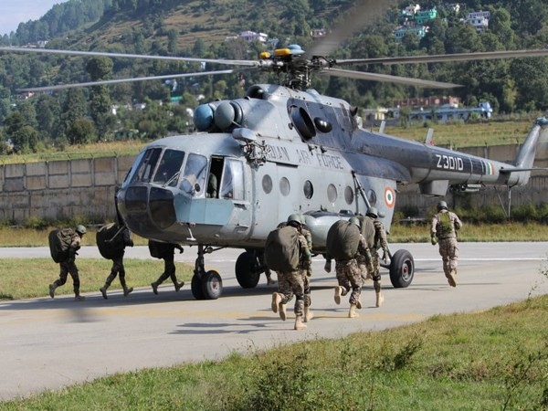 Soldiers India-Kazakhstan joint annual military exercise 'KAZIND 2019' in Pithoragarh on Monday