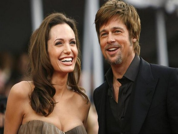 Former couple Angelina Jolie and Brad Pitt (file photo)