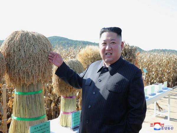 Kim Jong-un during his first public appearance at a military-run farm (Photo/Reuters)