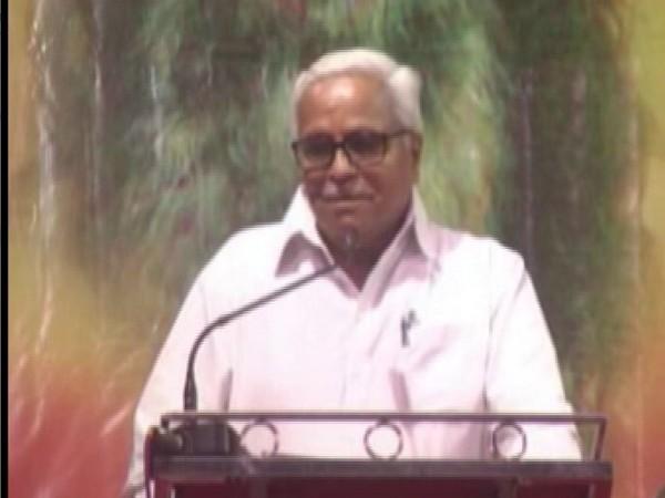 RSS General Secretary, Bhaiyaji Joshi addresses an event in Nagpur [Photo/ANI]
