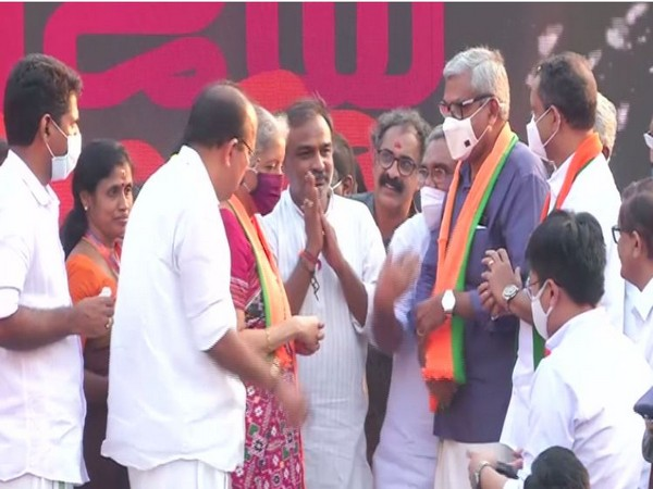 Former Kerala High Court Judge P N Ravindran joined BJP. (Photo/ANI)