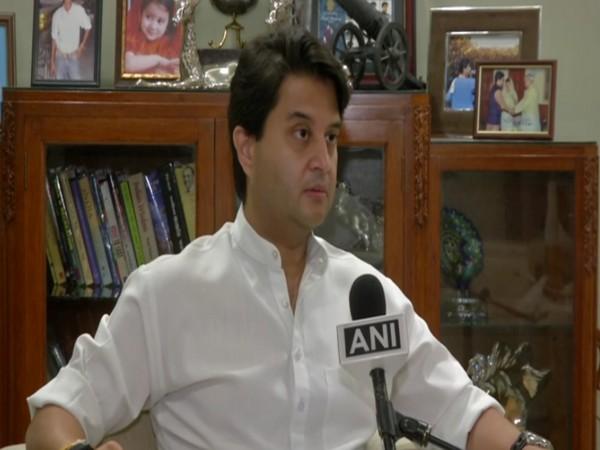 BJP MP Jyotiraditya Scindia speaking to ANI in New Delhi on Wednesday. [Photo/ANI]
