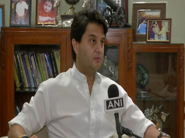 BJP leader Jyotiraditya Scindia speaking to ANI in New Delhi on Wednesday. [Photo/ANI]