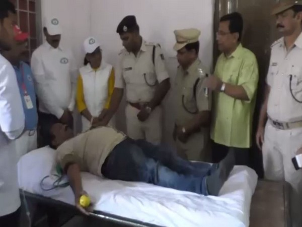Kalahandi Police collected 112 units of blood in a Voluntary Blood Donation Camp held at Dharamgarh on Sunday. Photo/ANI