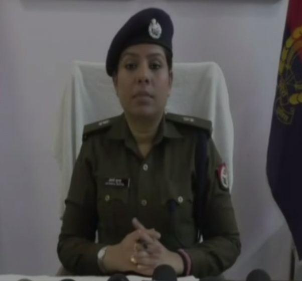 Aparna Gupta, Superintendent of Police Kanpur South, speaking to media on Monday. (Photo/ANI)