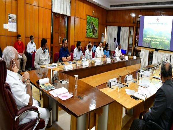 Karnataka Chief Minister BS Yediyurappa during a review meeting