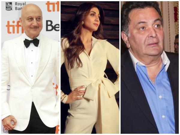 Anupam Kher, Shilpa Shetty and Rishi Kapoor