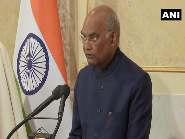 President Ram Nath Kovind addressing the Federal Council of Switzerland in Berne on Friday.