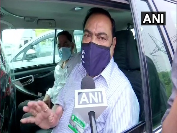 Eknath Khadse speaking to ANI in Mumbai on Saturday. (Photo/ANI)