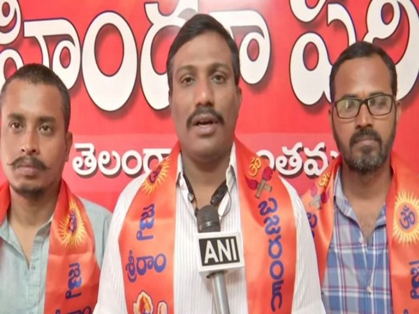 Bajrang Dal media convener S Kailash speaking to ANI in Hyderabad on Friday. Photo/ANI