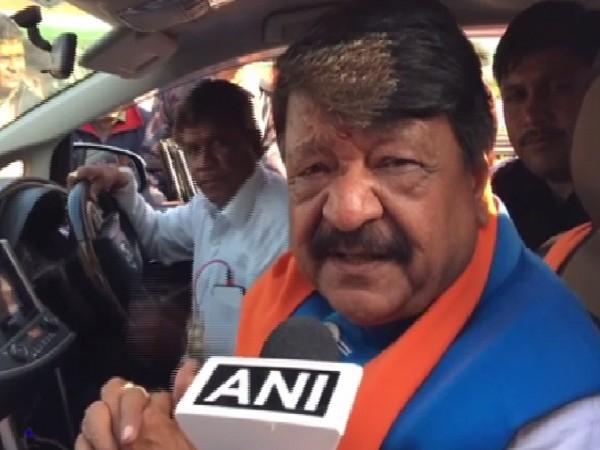 BJP general secretary Kailash Vijayvargiya speaking to ANI in Indore, Madhya Pradesh on Sunday.