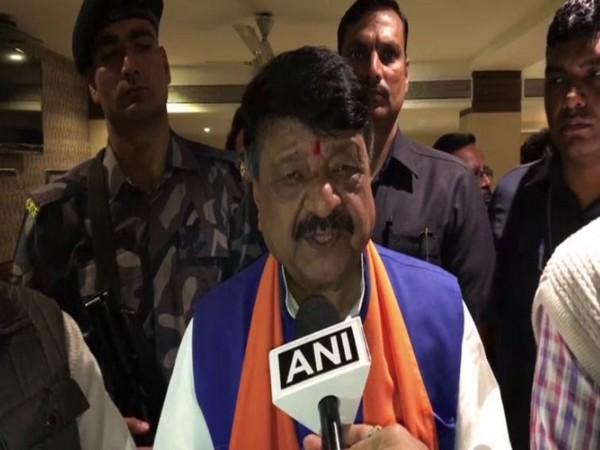 BJP general secretary Kailash Vijayvargiya speaks to ANI in Indore on Tuesday [Photo/ANI]