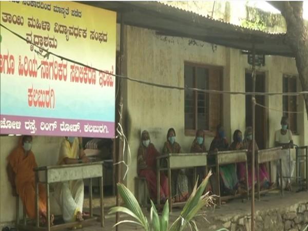 Residents at old age home in Kalaburagi. (Photo/ANI)