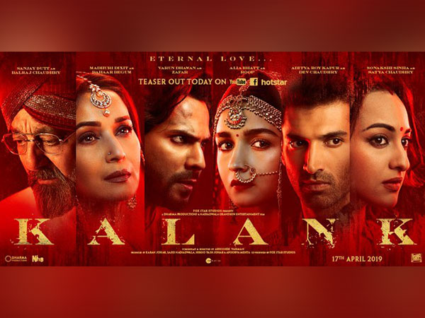 'Kalank' poster, Image courtesy: Instagram