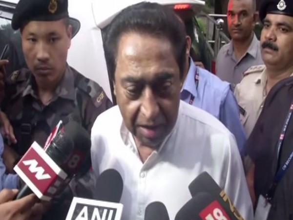 Chief Minister Kamal Nath speaking to reporters in New Delhi on Saturday. Photo/ANI